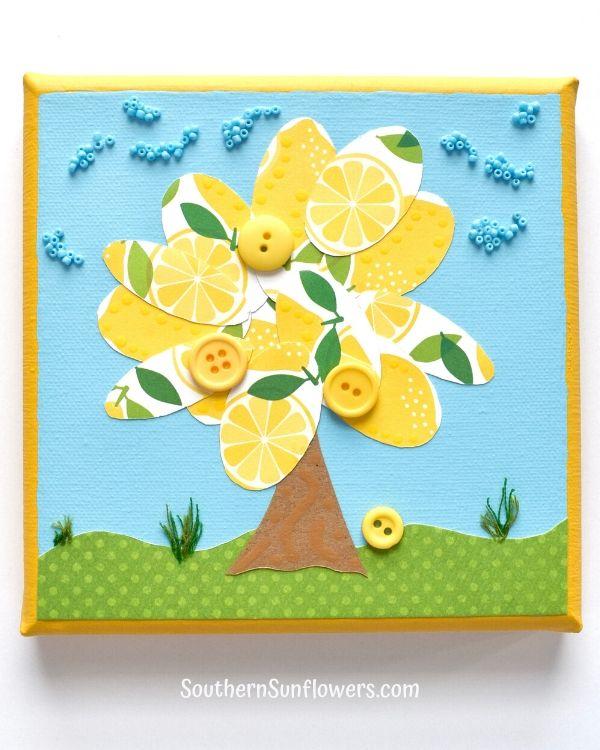mixed media lemon craft